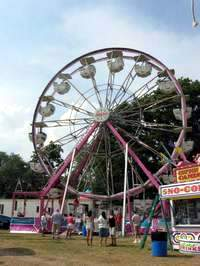 Prefabricated Ferry's Wheel in a typical carnival